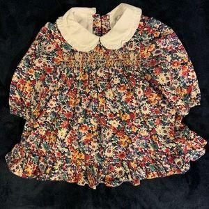 😍RALPH LAUREN ADORABLE FLORAL PRINT INFANT DRESS